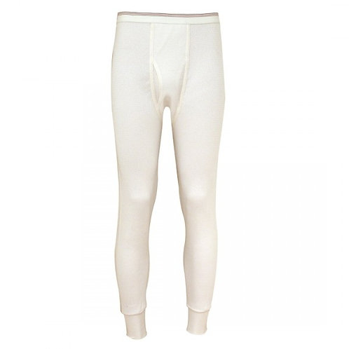 Indera Mills Traditional White Long Johns Pants Drawers 800DR
