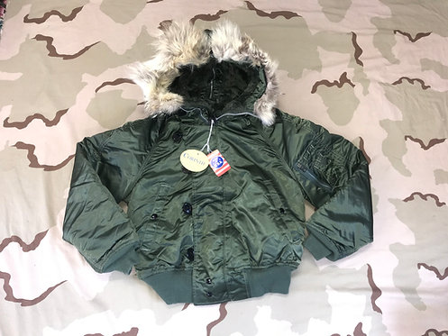 N-2B Nylon Fur Hood Jacket