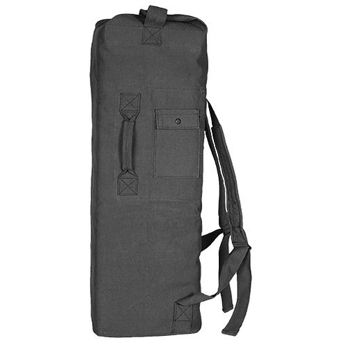 Military GI Style Canvas 2 Strap Duffel Bag