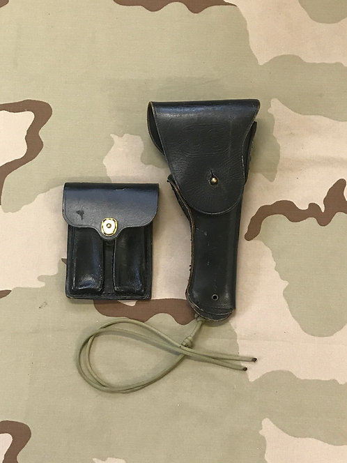 M-1911 Colt Leather Holster w/ .45 Cal. Magazine Pouch