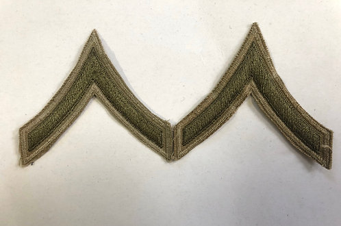 Pairs of US Army WW2 Era Private First Class Ranks
