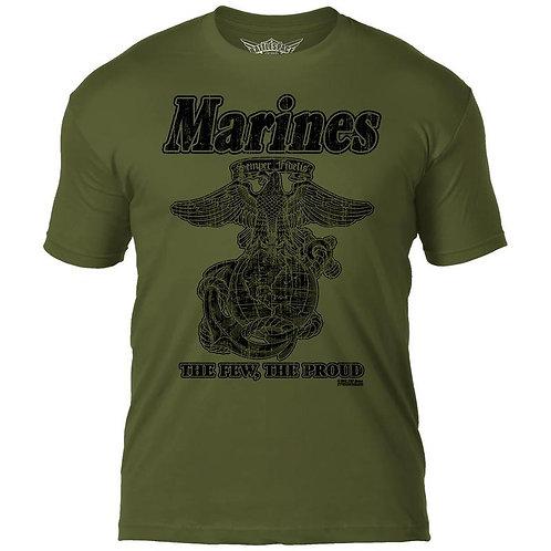 USMC 'Retro' 7.62 Design T-Shirt - Green