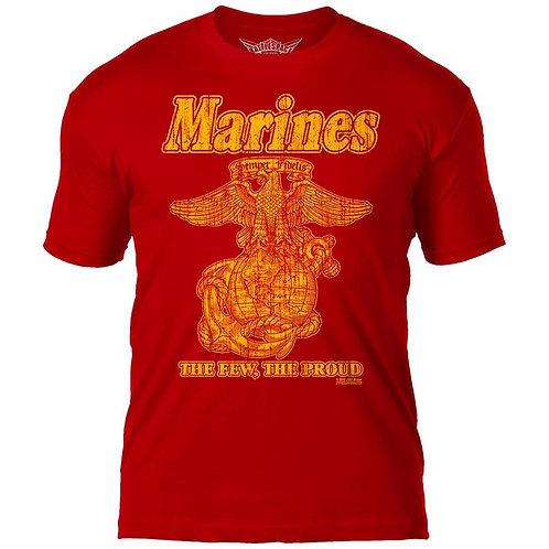 USMC 'Retro' 7.62 Design Battlespace Men's T-Shirt - Red