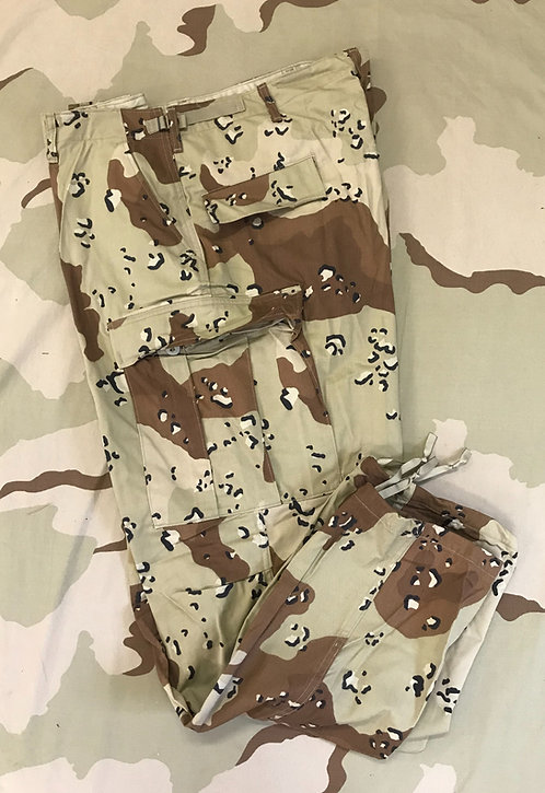 USGI BDU Desert Camo Trousers Cargo Pocket Pants