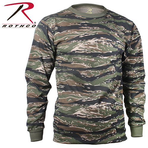 Rothco Long Sleeve Tiger Stripe Camo T-Shirt