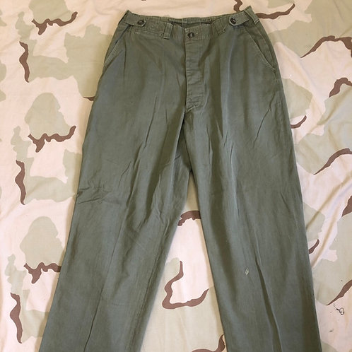 US Military WW2 M-43 Field Trousers Size: 34x34