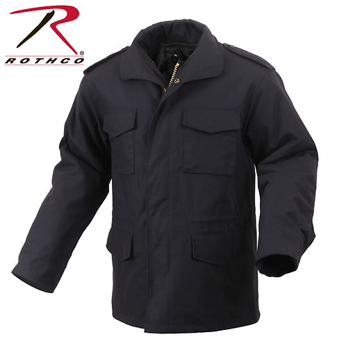 Rothco M-65 Field Jacket With Quilted Liner Black