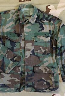 USGI Military Woodland Camo BDU Shirt