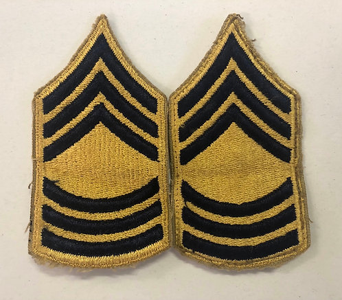 US Army Post-WW2 Master Sergeant (Combatant) Rank - Pair