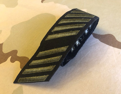 Vintage Green on Navy Wool Service Stripes