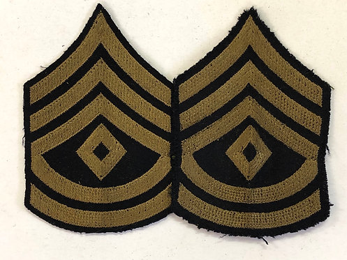 US Army WW2 First Sergeant Navy Wool Rank - Pair
