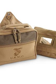 U.S. Marines USMC Coyote T-Bag Toiletry Bag Sandpiper of California S.O.C. New