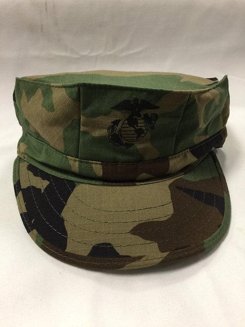 R&B USMC Woodland Camo 8-Point Cover With EGA