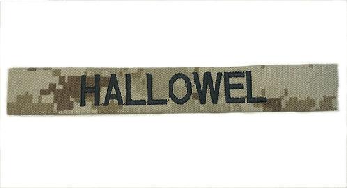Custom USMC Desert Marpat Embroidered Name Tape