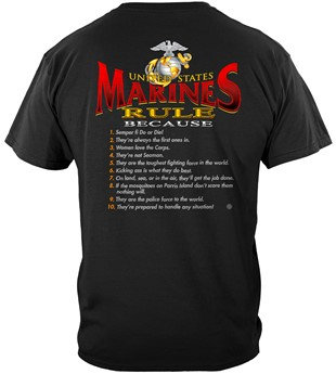 "USMC ""Marines Rule"" T-Shirt"