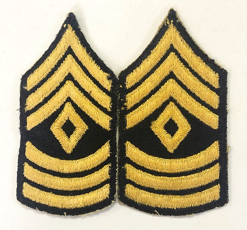 US Army Post-WW2 First Sergeant (Non-Combatant) Rank - Pair