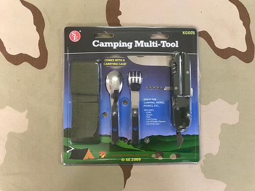 Camping Multi-Tool : Fork, Knife, & Spoon w/Pouch