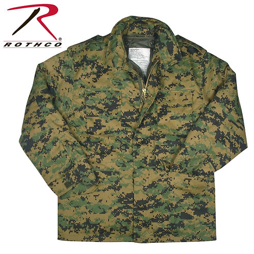 Rothco M-65 Field Jacket With Quilted Liner Woodland Digital