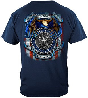 "USN Navy ""True Heroes"" Military T-shirt"