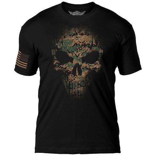 USMC Woodland Marpat Skull 7.62 Design T-Shirt