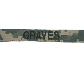 Custom US Army ACU Embroidered Name Tape