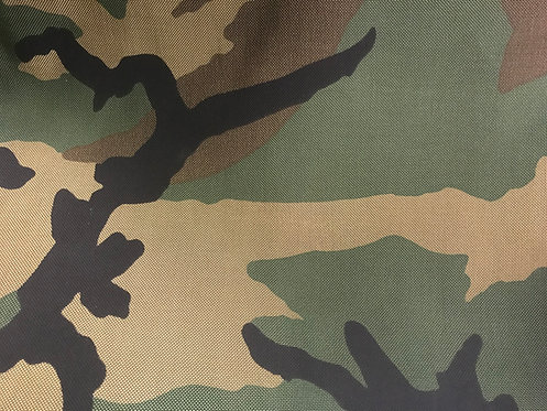 USGI Nylon Woodland Camouflage Fabric