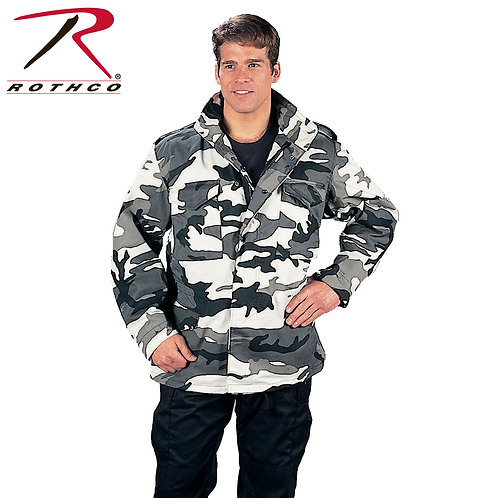 Rothco M-65 Field Jacket With Quilted Liner City Camo