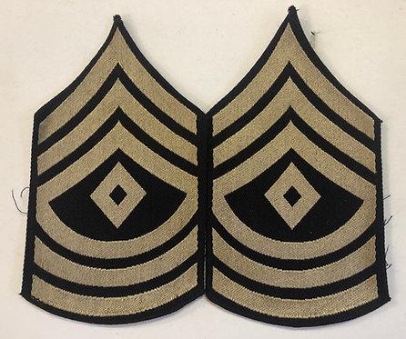 US Army WW2 First Sergeant Rank - Pair