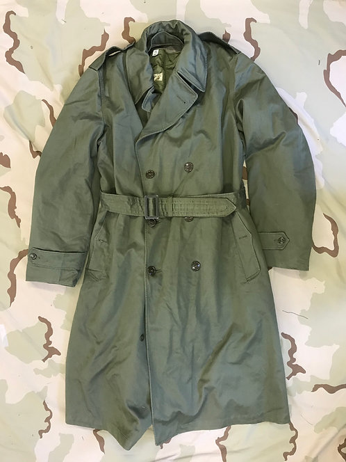 US Army Cotton Overcoat w/ Wool Liner
