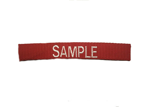 Custom Red Embroidered Name Tape
