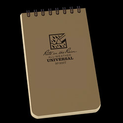 935T Rite in the Rain Waterproof Tan Notebook