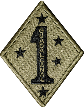 US Army OCP 1st Marine Division Patch