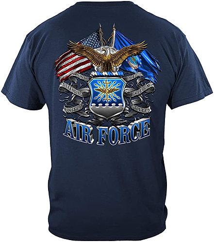 US Air Force Flag Eagle T-Shirt Military