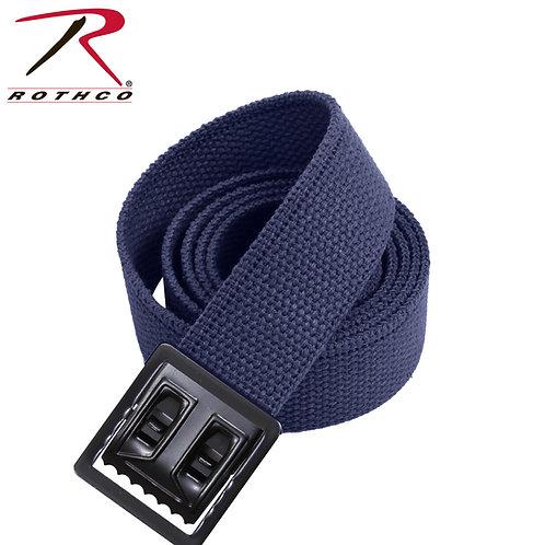 Military Navy Blue Cotton Web Belt w/ Open Face Buckle
