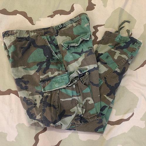 USGI Woodland Camo BDU Trousers Combat Pants - AS-IS