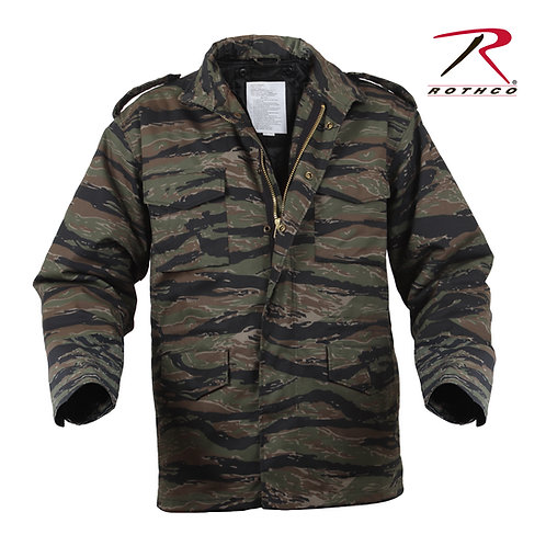 Rothco M-65 Field Jacket With Quilted Liner Tiger Stripe