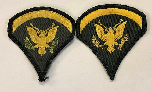 "US Army Specialist ""Spec"" 5 E-5 Rank - Pair"