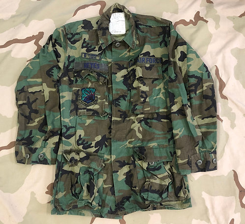 Vintage ERDL Camo BDU Shirt w/ US Air Force Patches