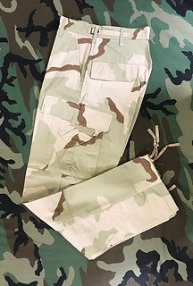 US GI Desert Camo Trousers Camouflage BDU Pants Ripstop