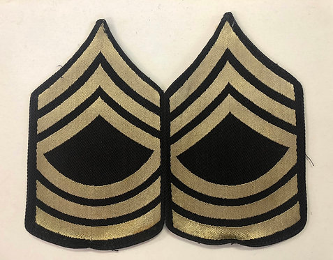 US Army WW2 Master Sergeant Rank - Pair