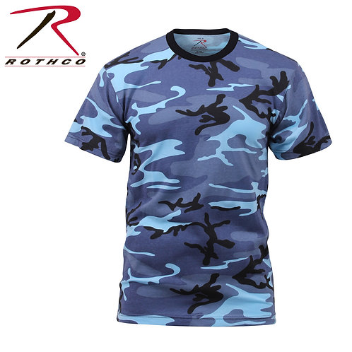 Rothco Kid's Sky Blue Camo T-shirt