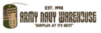 Army Navy Warehouse Military Surplus Store Logo