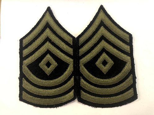 US Army WW2 First Sergeant Wool Rank - Pair
