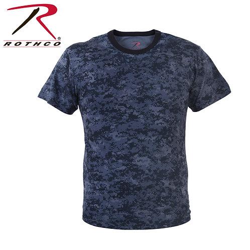 Rothco Midnight Navy Blue Digital Camo T-Shirt