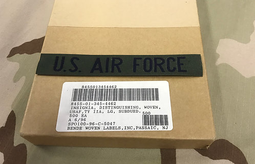 US Air Force Tape Nylon Green Woven USAF Insignia