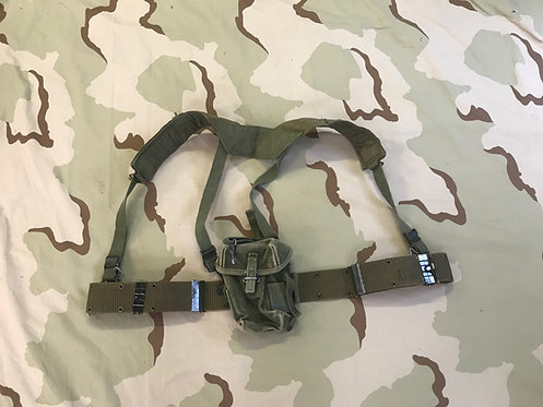 LC-1 Pistol Belt w/ M-1956 Canvas H Suspenders