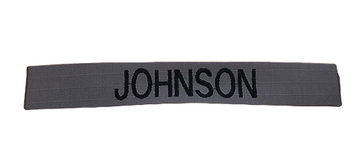 Custom Grey Embroidered Name Tape