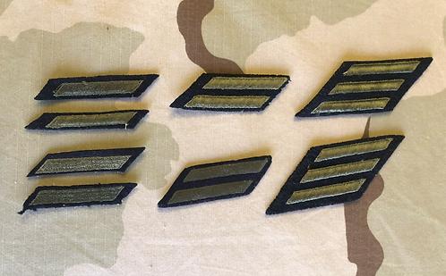 Vintage Green & Navy Blue Service Stripes