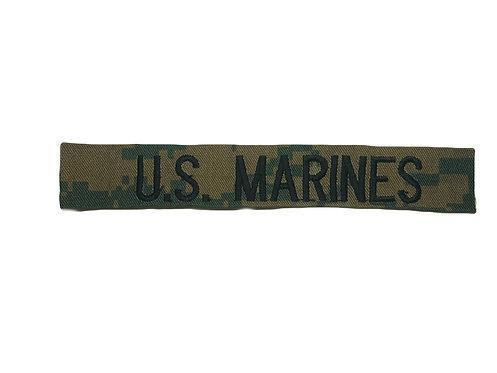 Custom USMC Woodland Marpat Embroidered Name Tape