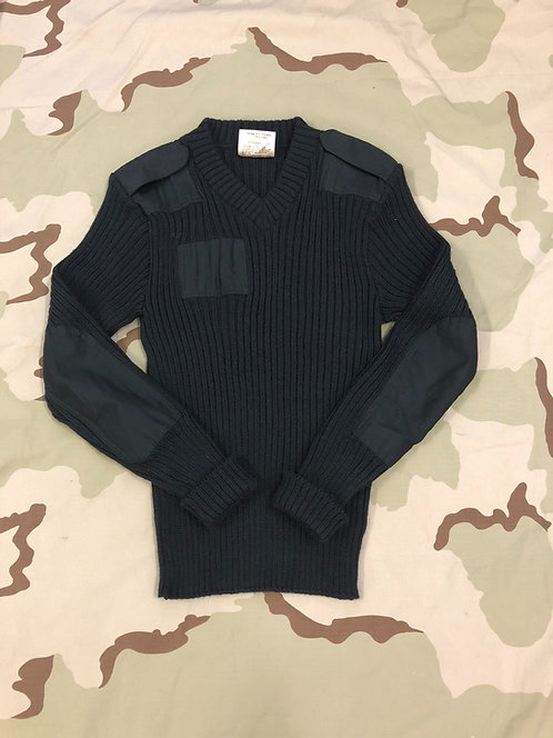 US Army Wool Black Sweater Wooly Polly